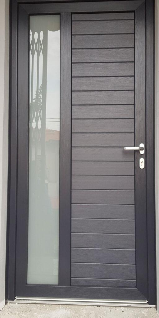 PVC grigio antracite - effetto legno